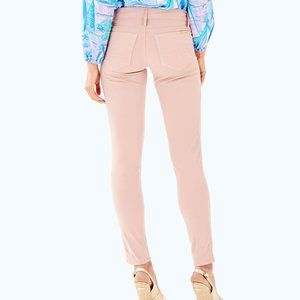 Lilly Pulitzer Worth Skinny Jeans Rose Pink Sateen